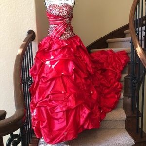 Mary's Bridal Red Quinceanera Formal Gown Dress 16